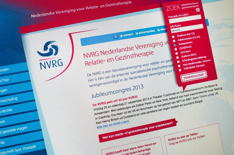 Website ontwikkeling voor NVRG
