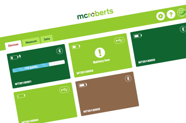 User Interface design voor MyMcRoberts