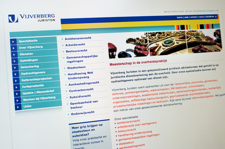 Webdesign voor Vijverberg Juristen en CMS